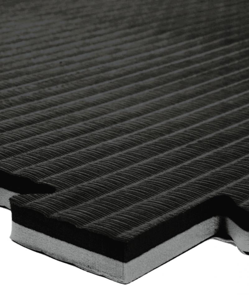 Essential 20mm exercise mats black grey closeup