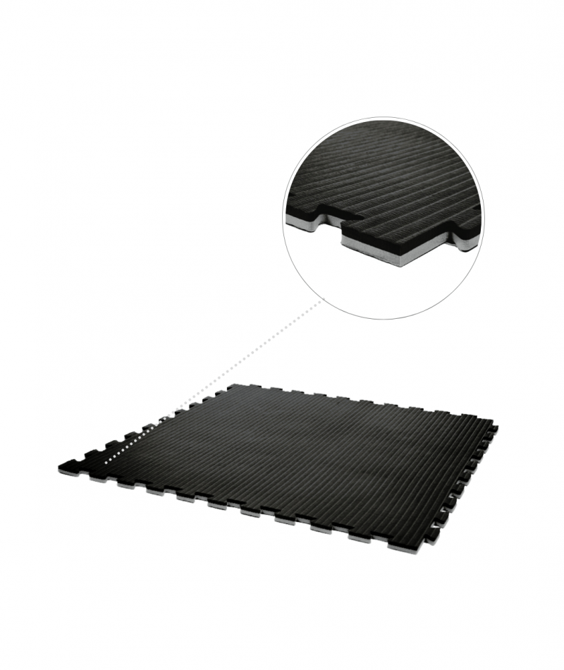 Essential 20mm exercise mats black grey main