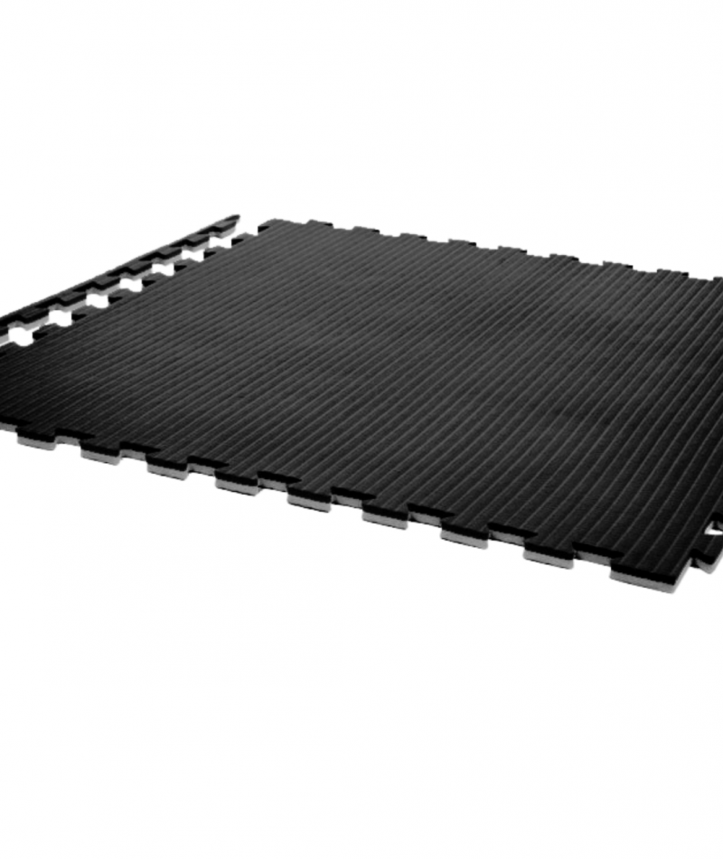 Essential 20mm exercise mats black grey with edges