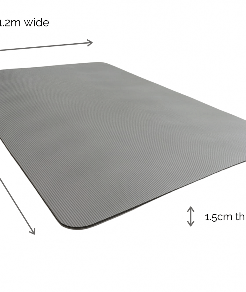 air pro 180 thick padded fitness exercise pilates yoga mat size